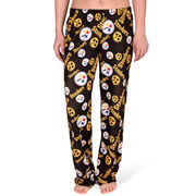 Pittsburgh Steelers Forever Collectibles Women's Repeat Print Pants - Black