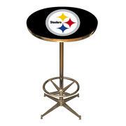 Pittsburgh Steelers Pub Table - Black
