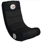 Pittsburgh Steelers Video Chair with Bluetooth - Black