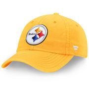 Pittsburgh Steelers NFL Pro Line by Fanatics Branded Fundamental Adjustable Hat - Gold