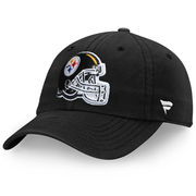 Pittsburgh Steelers NFL Pro Line by Fanatics Branded Youth Fundamental Adjustable Hat - Black