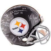 Pittsburgh Steelers Fanatics Authentic Riddell Throwback Pro Line Helmet with 11 Signatures and Multiple Inscriptions - Limited Edition of 24