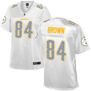 Antonio Brown Pittsburgh Steelers NFL Pro Line Women's White Out Fashion Jersey - White