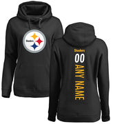 Pittsburgh Steelers NFL Pro Line Women's Personalized Backer Pullover Hoodie - Black
