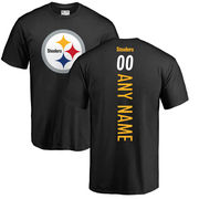 Pittsburgh Steelers NFL Pro Line Personalized Backer T-Shirt - Black