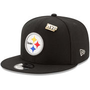 Terry Bradshaw Pittsburgh Steelers New Era Valued Pin 9FIFTY Adjustable Snapback Hat - Black