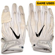 Vinny Curry Philadelphia Eagles Fanatics Authentic Game-Used White Pair of Gloves vs Pittsburgh Steelers On September 25