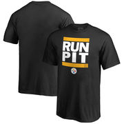 Pittsburgh Steelers NFL Pro Line Youth RUN-CTY T-Shirt - Black
