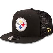 Pittsburgh Steelers New Era Mesh Fresh 9FIFTY Adjustable Hat - Black