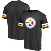 Pittsburgh Steelers NFL Pro Line by Fanatics Branded Refresh Timeless Tri-Blend T-Shirt - Black