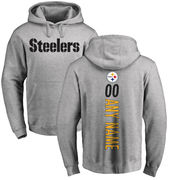 Pittsburgh Steelers NFL Pro Line Personalized Backer Pullover Hoodie - Ash