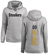 Pittsburgh Steelers NFL Pro Line Women's Personalized Backer Pullover Hoodie - Ash
