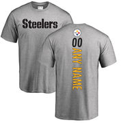 Pittsburgh Steelers NFL Pro Line Personalized Backer T-Shirt - Ash
