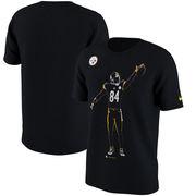 Antonio Brown Pittsburgh Steelers Nike Player Silhouette 2.0 Name & Number T-Shirt - Black