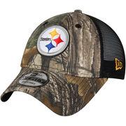 Pittsburgh Steelers New Era Trucker 9FORTY Adjustable Snapback Hat - Realtree Camo/Black