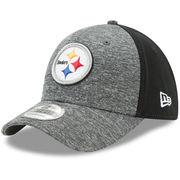 Pittsburgh Steelers New Era Shadow Blocker 39THIRTY Flex Hat - Heathered Gray/Black