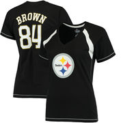 Antonio Brown Pittsburgh Steelers Majestic Determined To Win T-Shirt - Black