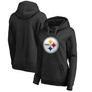 Pittsburgh Steelers NFL Pro Line Women's Primary Logo Plus Size Pullover Hoodie - Black