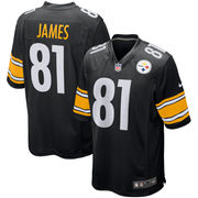 Jesse James Pittsburgh Steelers Nike Youth Game Jersey - Black