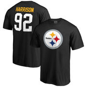 James Harrison Pittsburgh Steelers NFL Pro Line Team Icon Player Name & Number T-Shirt - Black