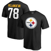 Alejandro Villanueva Pittsburgh Steelers NFL Pro Line by Fanatics Branded Team Icon Name & Number T-Shirt - Black