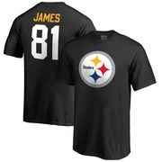 Jesse James Pittsburgh Steelers NFL Pro Line by Fanatics Branded Youth Team Icon Name & Number T-Shirt - Black