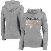 Pittsburgh Steelers Nike Women's Cold Weather Performance Hoodie - Gray