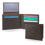 Pittsburgh Steelers Team Logo Billfold - Brown