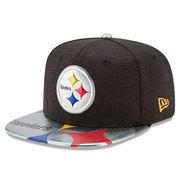 Pittsburgh Steelers New Era 2017 NFL Draft On Stage Original Fit 9FIFTY Snapback Adjustable Hat - Black