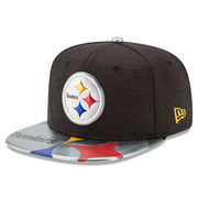 Pittsburgh Steelers New Era Youth 2017 NFL Draft On Stage Original Fit 9FIFTY Snapback Adjustable Hat - Black