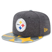 Pittsburgh Steelers New Era NFL Spotlight Original Fit 9FIFTY Snapback Adjustable Hat - Graphite