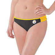 Pittsburgh Steelers G-III 4Her by Carl Banks Women's Outfielder Bikini Bottom - Black/Gold