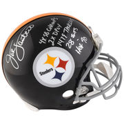 Jack Lambert Pittsburgh Steelers Fanatics Authentic Autographed Riddell Throwback Pro-Line Helmet with Multiple Career Inscriptions