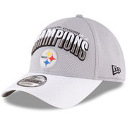 Pittsburgh Steelers New Era 2016 AFC North Division Champions 9FORTY Adjustable Hat - Gray/White