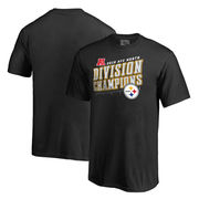 Pittsburgh Steelers NFL Pro Line by Fanatics Branded Youth 2016 AFC North Division Champions Inches T-Shirt - Black