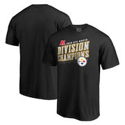 Pittsburgh Steelers NFL Pro Line by Fanatics Branded Big & Tall 2016 AFC North Division Champions Inches T-Shirt - Black