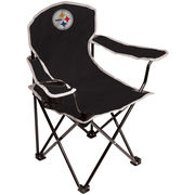Pittsburgh Steelers Coleman Youth Lawn Chair - Black