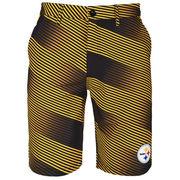 Pittsburgh Steelers Diagonal Stripe Walking Shorts - Yellow
