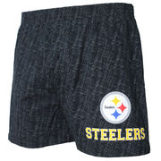 Pittsburgh Steelers Concepts Sport Showdown Knit Boxer Shorts - Black