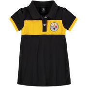 Pittsburgh Steelers Girls Toddler Halftime Dress - Black/Yellow