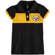 Pittsburgh Steelers Girls Infant Halftime Dress - Black/Yellow