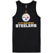 Pittsburgh Steelers Youth Clean Cut Tank Top - Black