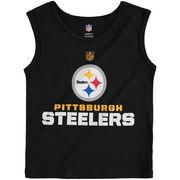 Pittsburgh Steelers Preschool Clean Cut Tank Top - Black