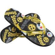Pittsburgh Steelers Women's Multi Logo Glitter Flip Flops