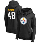 Bud Dupree Pittsburgh Steelers NFL Pro Line by Fanatics Branded Women's Team Icon Pullover Hoodie - Black