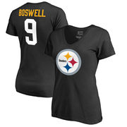 Chris Boswell Pittsburgh Steelers NFL Pro Line by Fanatics Branded Women's Team Icon T-Shirt - Black