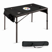 Pittsburgh Steelers Portable Folding Travel Table - Black