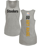 Pittsburgh Steelers NFL Pro Line by Fanatics Branded Women's Personalized Backer Tri-Blend Tank Top - Ash