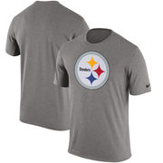 Pittsburgh Steelers Nike Legend Logo Essential Performance T-Shirt - Gray