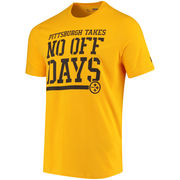 Pittsburgh Steelers Under Armour Combine Authentic No Days Off T-Shirt - Gold